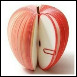 Paper apple with paperclip